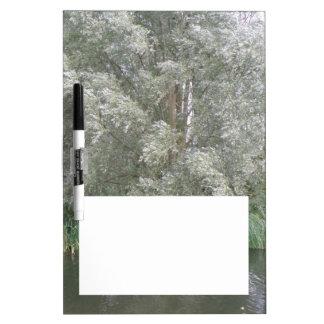 White Tree and River Landscape Memo Board