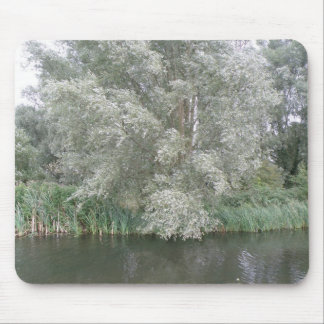 White Tree and River Landscape Mousepad