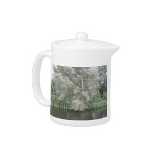 White Tree and River Landscape Teapot