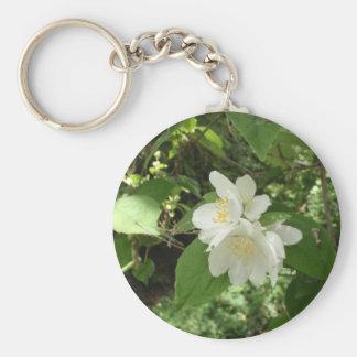 White Tree Blossom Keychain