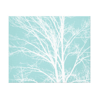 White Tree Branches Canvas Print