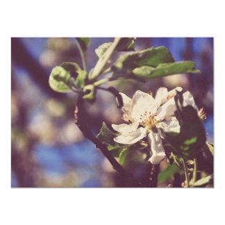 White tree flower 6.5x8.75 paper invitation card