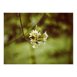 "White tree flower 6.5"" x 8.75"" invitation card"