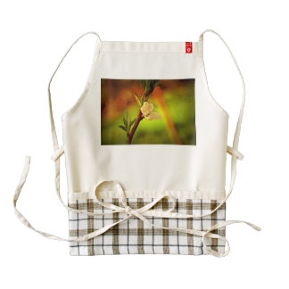 White tree flower painting zazzle HEART apron