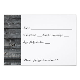 White Tree Gray Wood rsvp Card
