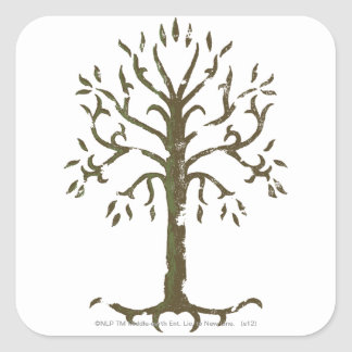 White Tree of Gondor Square Sticker