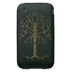 White Tree of Gondor Tough iPhone 3 Cover at Zazzle