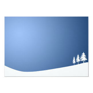 WHITE TREES SNOW SNOW-COVERED WINTER SCENE HILL VE INVITES
