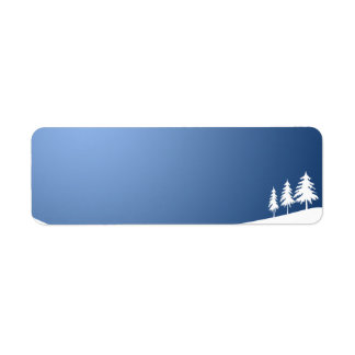 WHITE TREES SNOW SNOW-COVERED WINTER SCENE HILL VE LABEL