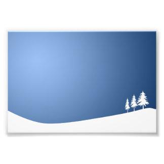WHITE TREES SNOW SNOW-COVERED WINTER SCENE HILL VE PHOTO PRINT