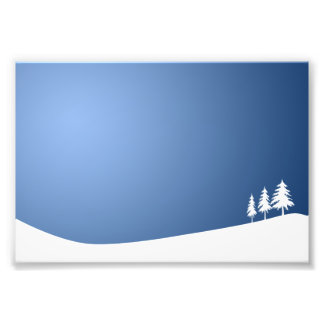 WHITE TREES SNOW SNOW-COVERED WINTER SCENE HILL VE PHOTOGRAPH