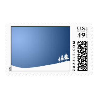 WHITE TREES SNOW SNOW-COVERED WINTER SCENE HILL VE POSTAGE
