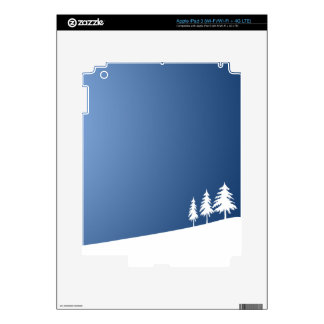WHITE TREES SNOW SNOW-COVERED WINTER SCENE HILL VE DECALS FOR iPad 3
