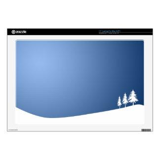 "WHITE TREES SNOW SNOW-COVERED WINTER SCENE HILL VE 17"" LAPTOP SKINS"