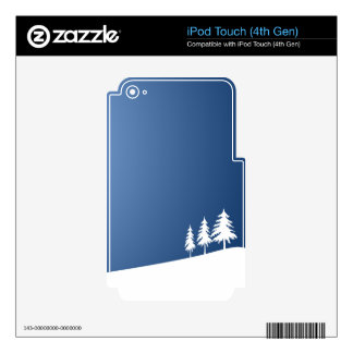 WHITE TREES SNOW SNOW-COVERED WINTER SCENE HILL VE iPod TOUCH 4G SKIN