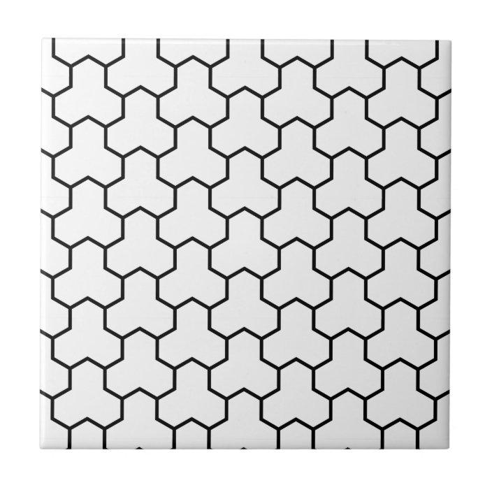 white tri hex tile zazzle com