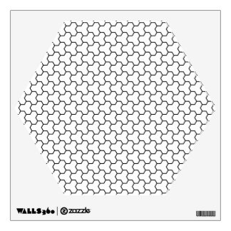 White Tri-Hex Wall Decal