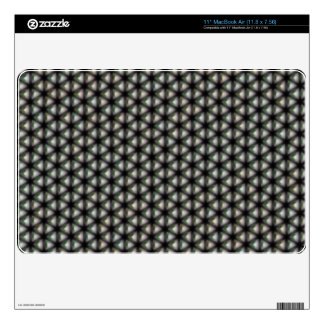 """White triangle black background skins for 11"""" MacBook air"""