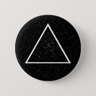 White triangle outline on black star background button