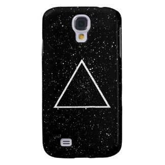 White triangle outline on black star background galaxy s4 cover