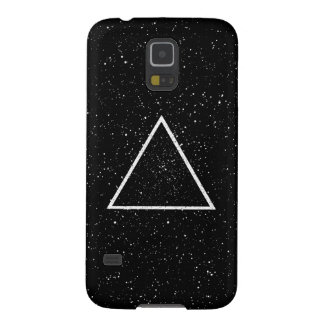 White triangle outline on black star background galaxy s5 cover
