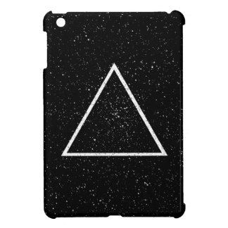 White triangle outline on black star background iPad mini cases