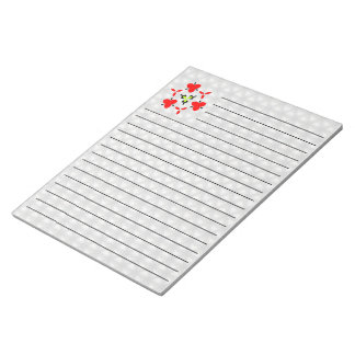 White triangle shapes notepad