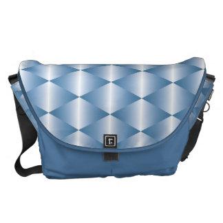 White Triangles Messenger Bag