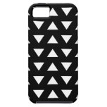 White Triangles on Black. A geometric Pattern. iPhone 5 Cover