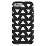 White Triangles on Black. A geometric Pattern. Tough iPhone 6 Case