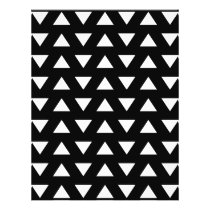 White Triangles on Black. A geometric Pattern. Flyer