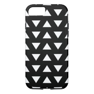 White Triangles on Black. A geometric Pattern. iPhone 7 Case