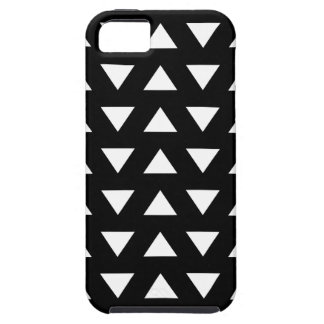White Triangles on Black. A geometric Pattern. iPhone SE/5/5s Case