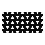 White Triangles on Black. A geometric Pattern. Photo Cards
