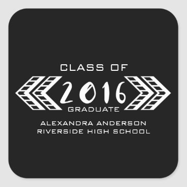 Aztec Themed White Tribal Aztec Graduation Stickers