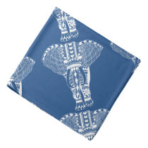White Tribal Elephant Bandana