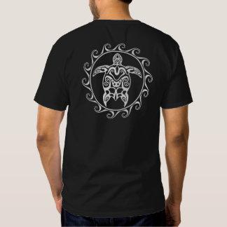 White Tribal Turtle Tee Shirt