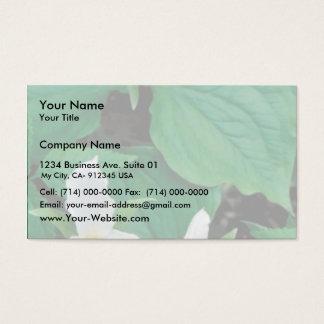 White trillium business card