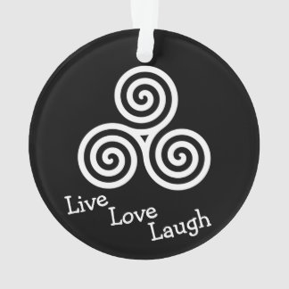 white triple spiral live love laugh