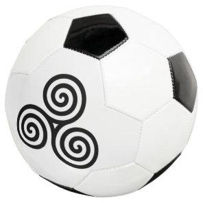 white Triple spiral Soccer Ball