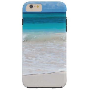 White Tropical Beach and Sea Tough iPhone 6 Plus Case