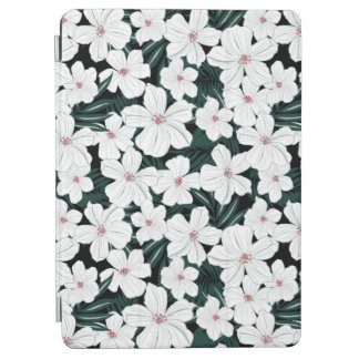 White Tropical Flowers Pattern iPad Air Cover