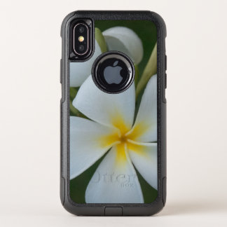 White Tropical plumeria Flower From Fiji OtterBox Commuter iPhone X Case