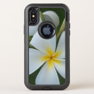 White Tropical plumeria Flower From Fiji OtterBox Defender iPhone X Case