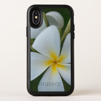 White Tropical plumeria Flower From Fiji OtterBox Symmetry iPhone X Case