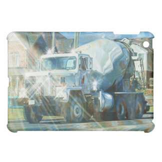 White Truck Cement Mixer Lorry Truck Drivers iPad Mini Cases