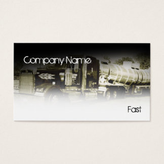white truck in black business card