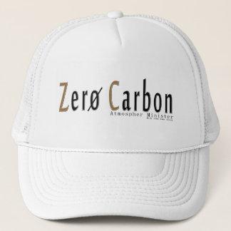 "White Trucker cap, logo ""Zero Carbon "" Trucker Hat"