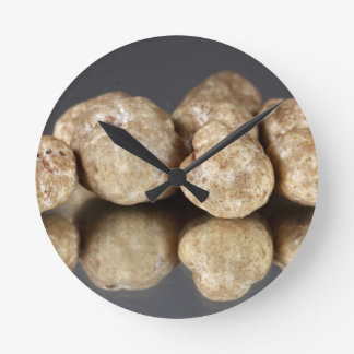 White truffles Tuber oligospermum Round Clock