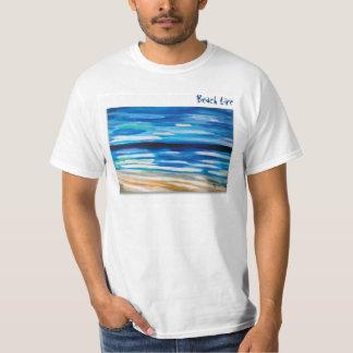 white Tshirt Beach theme